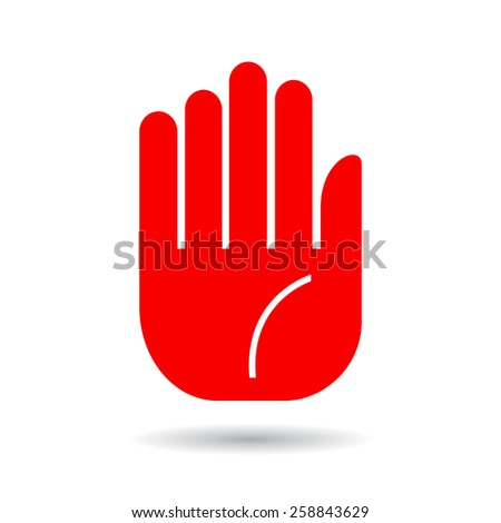 Hand palm icon - stock vector