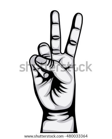 Hand Peace Love Symbol Vector Illustration Stock Vector Hd Royalty