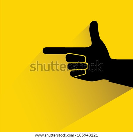 hand pointer, hand gesture with the shape of the gun - stock vector