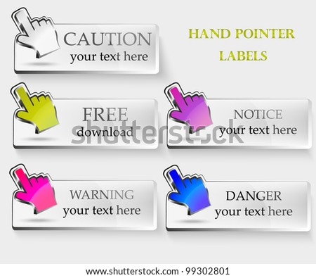hand pointer labels