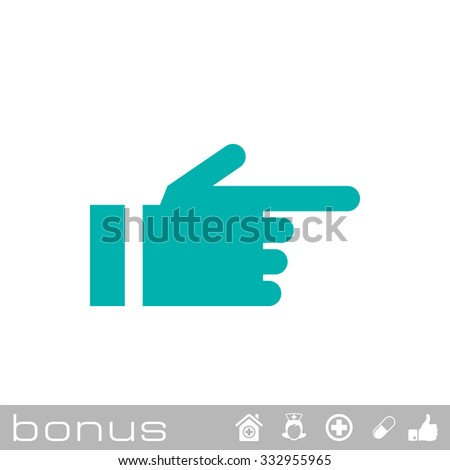 hand pointing finger icon - stock vector