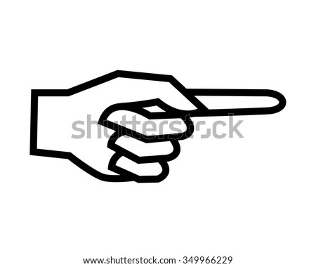 Hand Pointing Symbol Target Sign Finger Indication