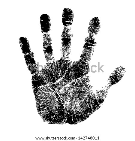 Hand print - stock vector