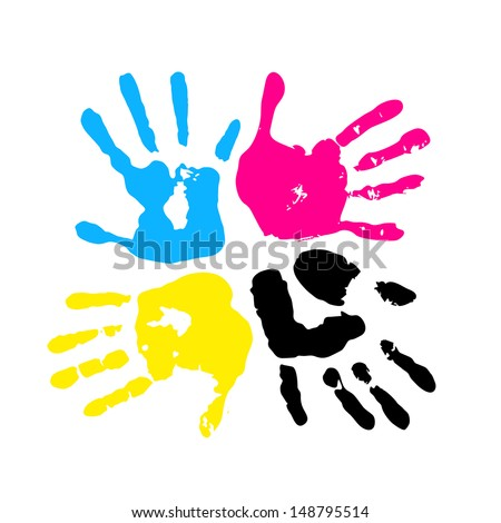 hand print four color ink for printing - Pictures For Print