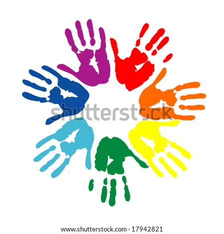 hand prints - stock vector