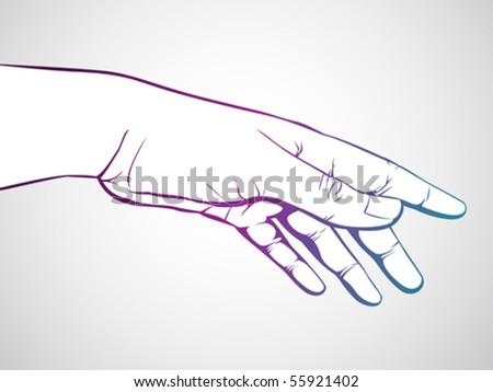 hand reaching/giving - stock vector