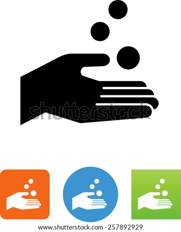 Hand receiving coins symbol for download. Vector icons for video, mobile apps, Web sites and print projects.  - stock vector