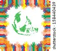 Hand Save The Earth Conceptual - stock vector