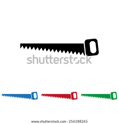 Hand saw woodworking instrument icon, vector illustration, EPS 10