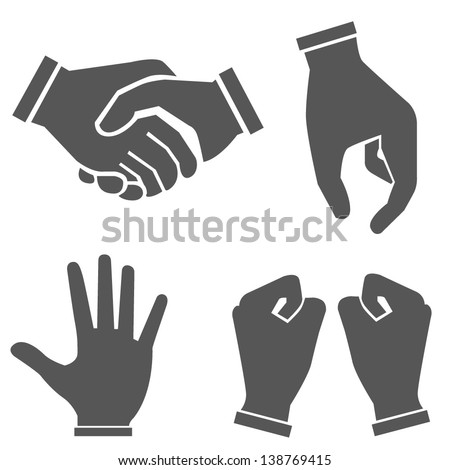 hand sets - stock vector