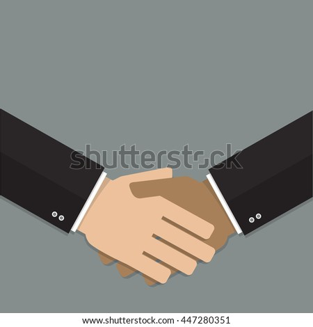 hand shake flat design vector illustration can be use as icon, background or presentation
