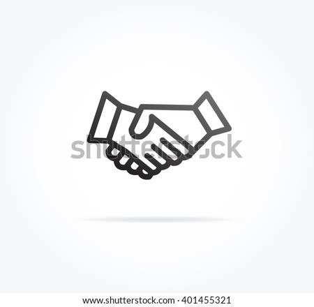 Hand Shake Icon - stock vector