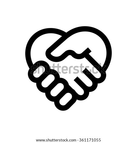Hand shake line icon. Pixel perfect fully editable vector icon suitable for websites, info graphics and print media. - stock vector