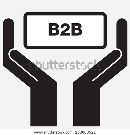 Hand showing b2b sign icon. vector illustration - stock vector