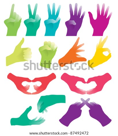 Hand Sign - stock vector
