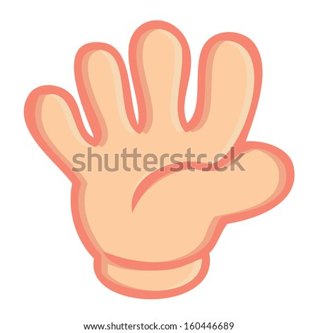 hand sign of rock paper scissors game isolated vector on white background - stock vector