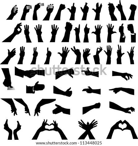 Hand silhouette - stock vector
