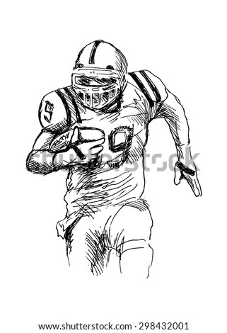 Football Sketch Stock Images Royalty-Free Images U0026 Vectors | Shutterstock