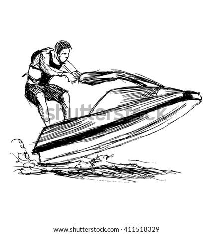 Waverunner stock images royalty free images vectors shutterstock - Jet ski dessin ...