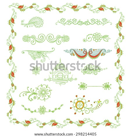 Hand-sketched floral vignettes. Gentle vector design, suitable for cards, decor, tattoos. - stock vector