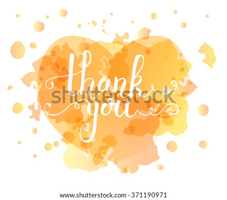 Hand sketched Thank you text as logotype, badge and icon. Thank You postcard, card, invitation, flyer, banner template. Thank you lettering typography. Romantic quote - stock vector