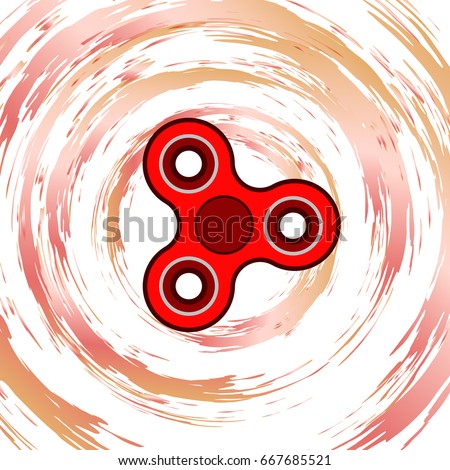 Hand Spinner Tricks Abstract Background Toy Stock Vector