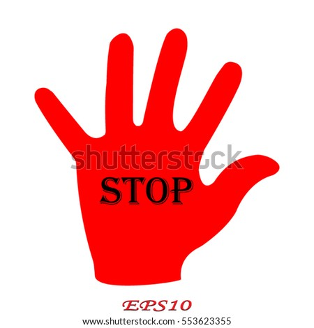 hand, stop, icon, vector illustration eps10