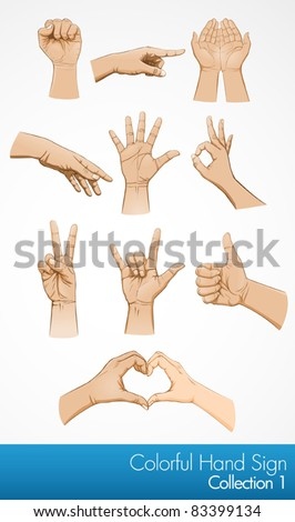 Hand symbol illustration collection - stock vector