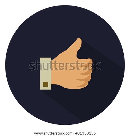 hand thumbs up - like - yes icon, ok