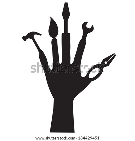hand tools collection - stock vector