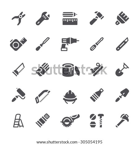 Hand tools icons - stock vector