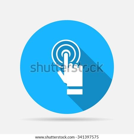 Hand touching icon - stock vector