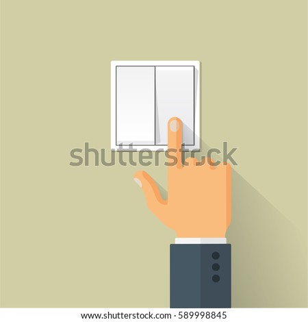 Light switch turned off cartoon