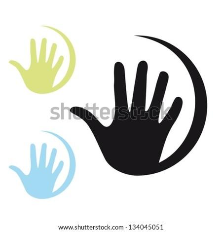 Hand.Vector. EPS-10 (non transparent elements, non gradient) - stock vector