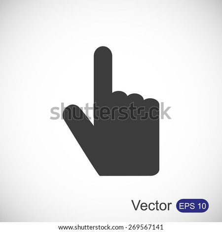 Hand vector icon - stock vector