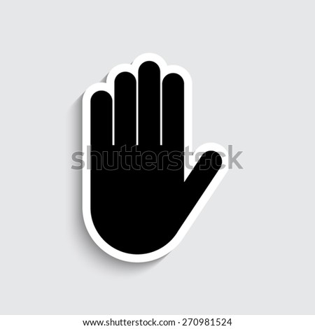 hand vector icon stock photo photo vector illustration 270981524 rh shutterstock com hand vector vintage hand vector shutterstock