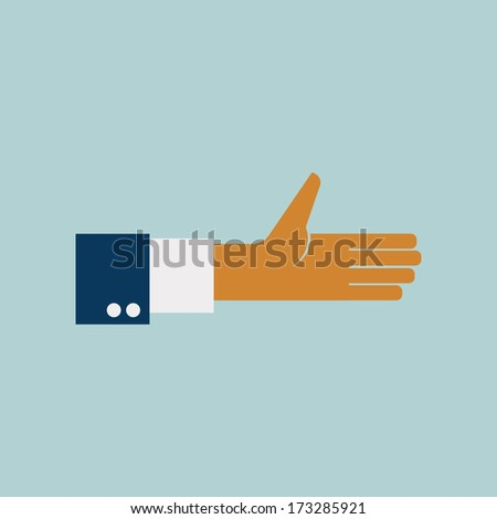 Hand vector illustration - stock vector