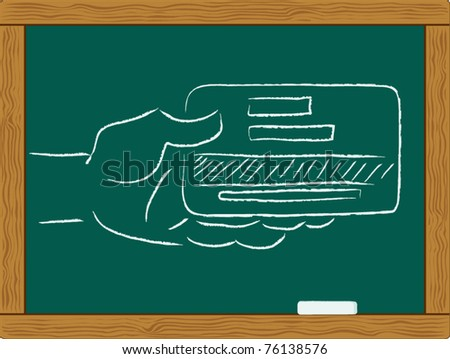 hand with credit card - stock vector