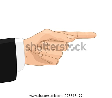 Hand with directive gesture - stock vector