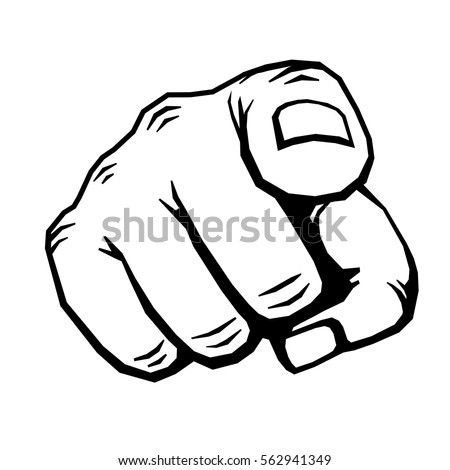 Hand With Finger Pointing Vector Illustration Choosing Gesture Icon Direction And Showing