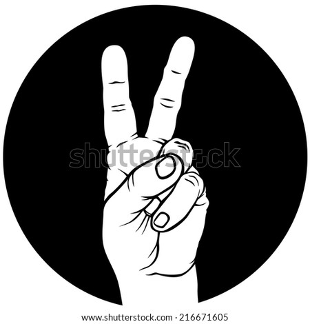 Fingers Crossed Logo Hand With Fingers Crossed in