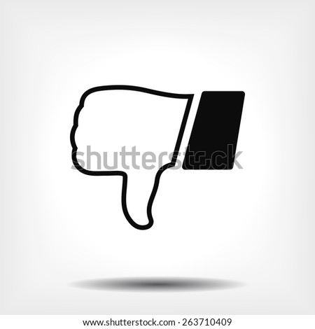 hand with thumb down  icon. Vector  Eps 10  - stock vector