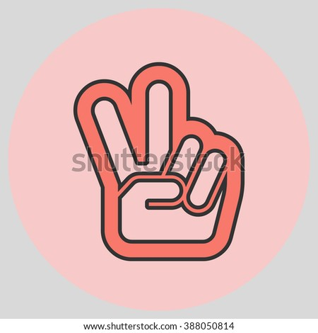 Hand Two Fingers Peace Victory Symbol Stock Photo Photo Vector