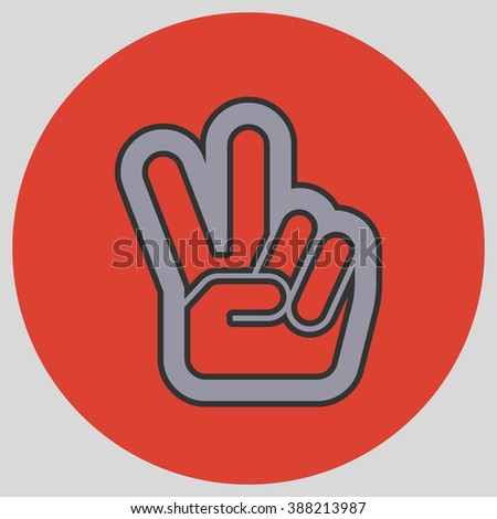 Hand Two Fingers Peace Victory Symbol Stock Vector 388213987