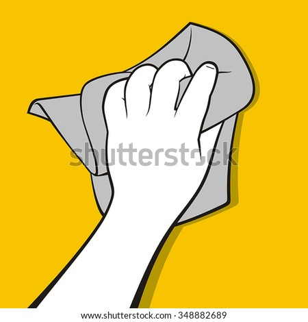 Hand with wipe - stock vector