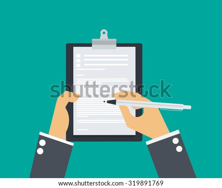Hand write paper. - stock vector