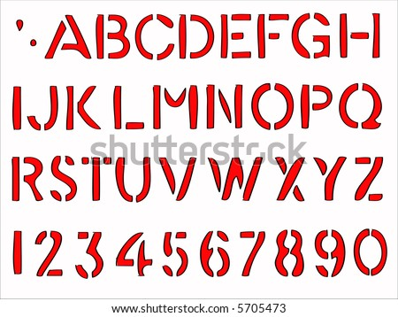 Hand writing alphabet -  36 Individual Vector Letters and Numbers grouped for easy use and coloring - stock vector