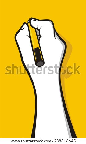Hand writing with marker - stock vector