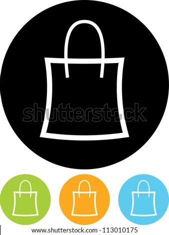 Handbag - Vector icon isolated - stock vector
