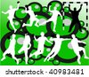 handball vector silhouettes - stock vector